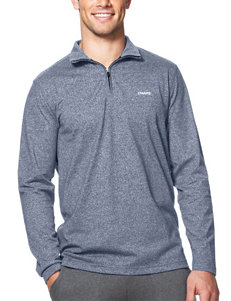 Chaps Solid Color 1/4 Zip Pullover