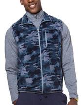 Chaps Camo Print Fleece Vest