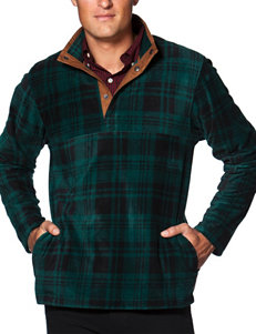 Chaps Plaid Microfleece Jacket