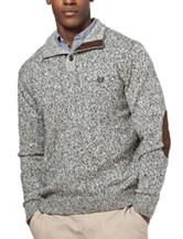 Chaps Grey Button Sweater
