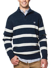 Chaps Striped Print Sweater