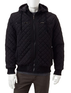 Whispering Smith Black Puffer & Quilted Jackets