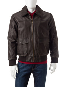 Whispering Smith Brown Bomber & Moto Jackets