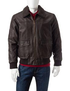 Whispering Smith Brown Bomber & Moto Jackets
