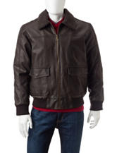Whispering Smith Faux Leather Bomber Jacket