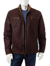 Whispering Smith Big & Tall Arctic Faux Suede Jacket
