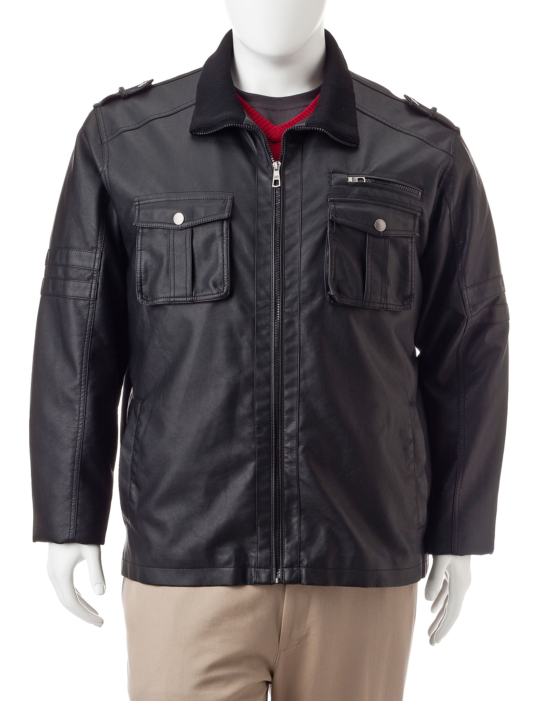 Whispering Smith Black Bomber & Moto Jackets