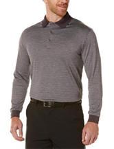 PGA Tour® Striped Print Polo Shirt