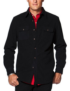 Chaps Black Casual Button Down Shirts