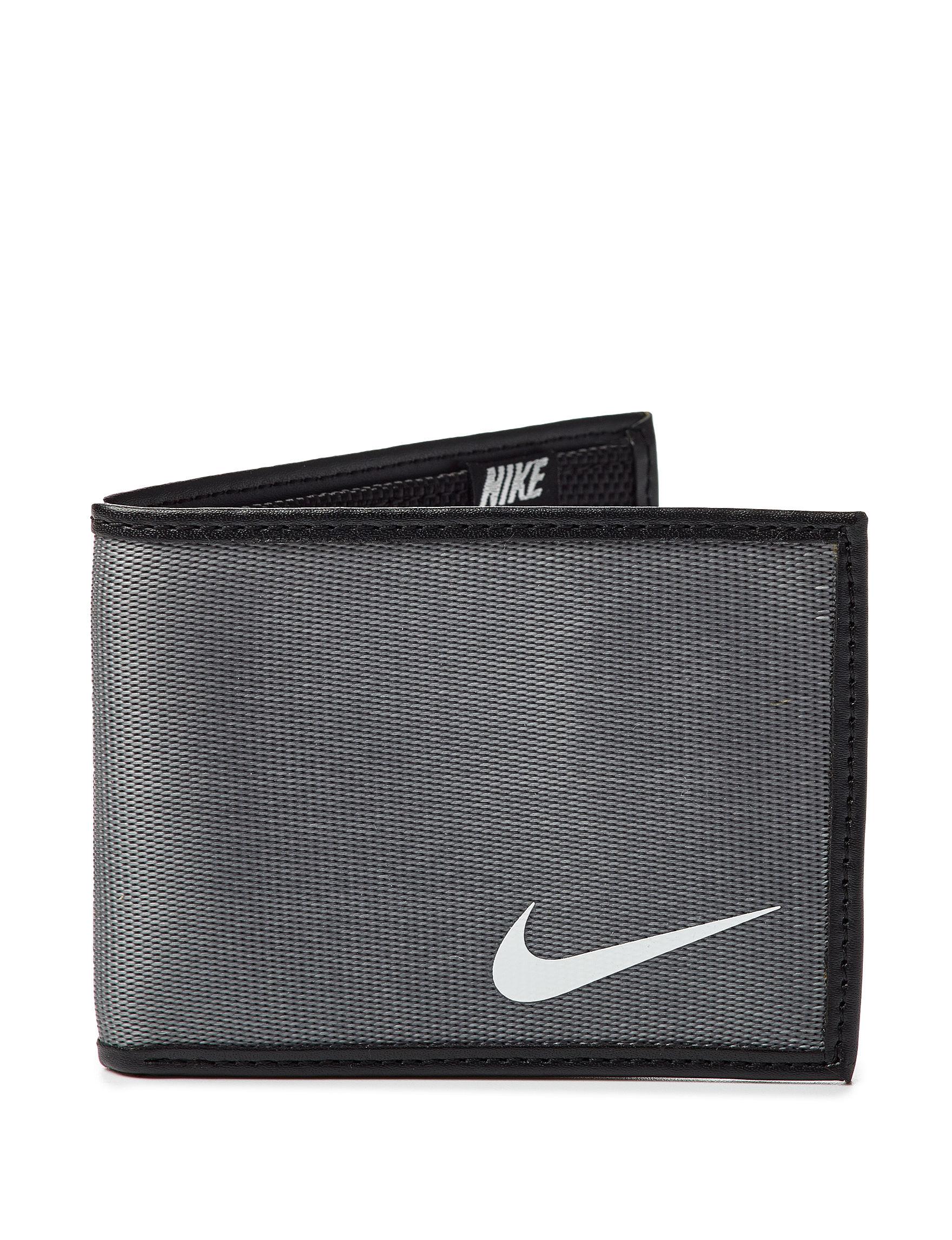 Nike Charcoal Bi-fold Wallets