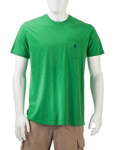 U.S. Polo Assn. Light Green Tees & Tanks