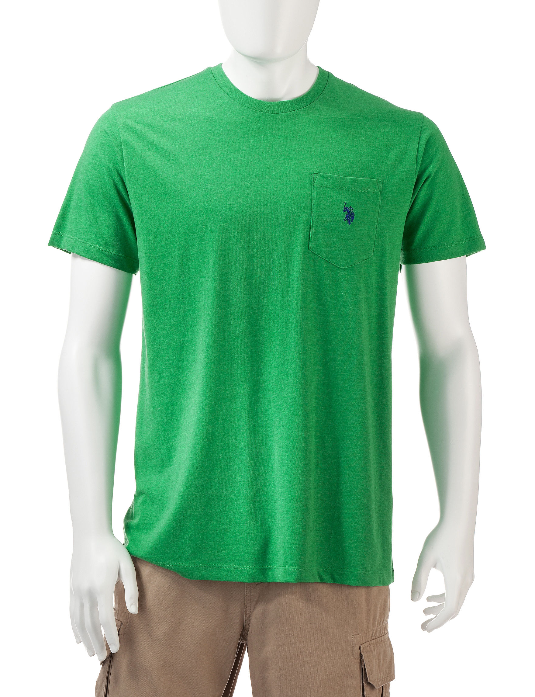 U.S. Polo Assn. Light Green Tees & Tanks