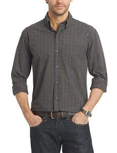 Arrow Black Casual Button Down Shirts