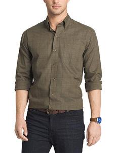 Arrow Green Casual Button Down Shirts