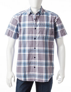 Columbia Blue Casual Button Down Shirts