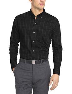 Van Heusen Black Casual Button Down Shirts