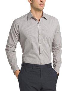 Van Heusen Beige Casual Button Down Shirts