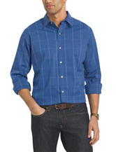 Van Heusen Plaid Print Traveler Woven Shirt