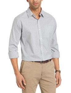 Van Heusen Light Grey Casual Button Down Shirts