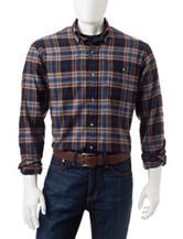 Arrow Plaid Print Flannel Shirt