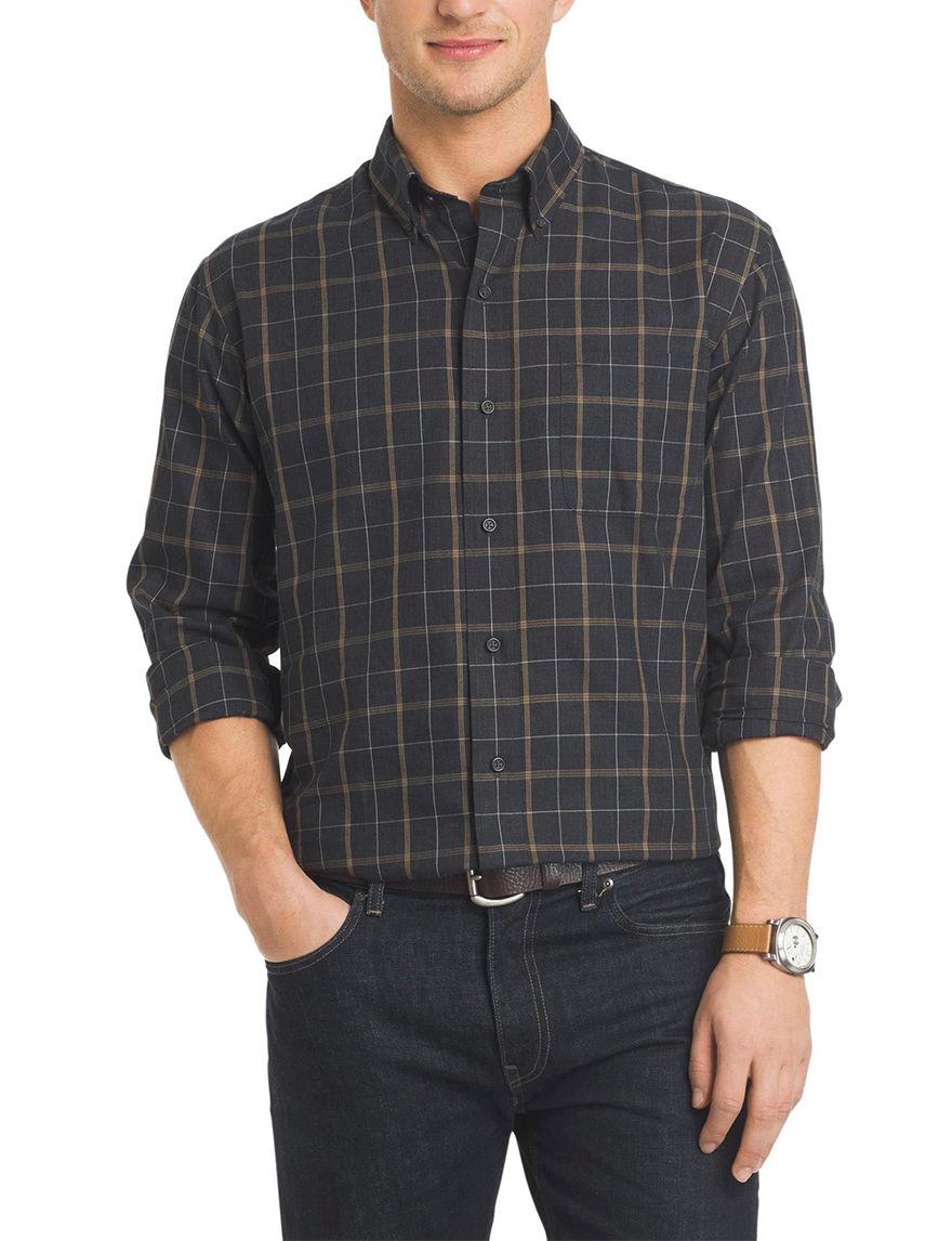 Arrow Black Casual Button Down Shirts