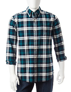 Chaps Big & Tall Plaid Print Woven Shirt