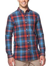 Chaps Buffalo Plaid Print Woven Shirt