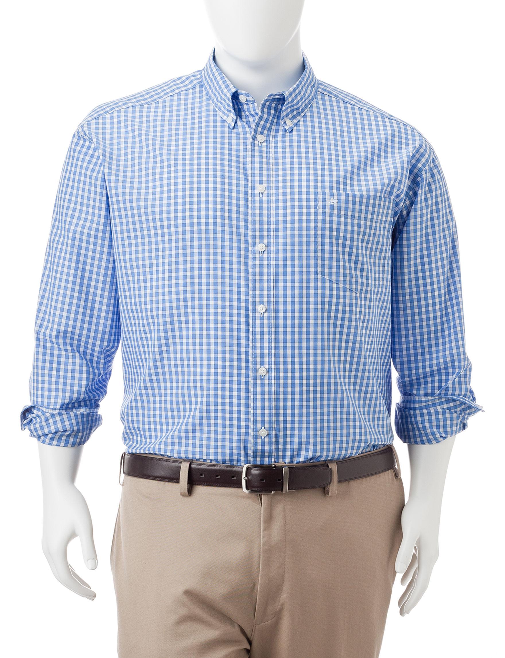 Dockers Green Casual Button Down Shirts