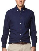 Chaps Navy Woven Shirt