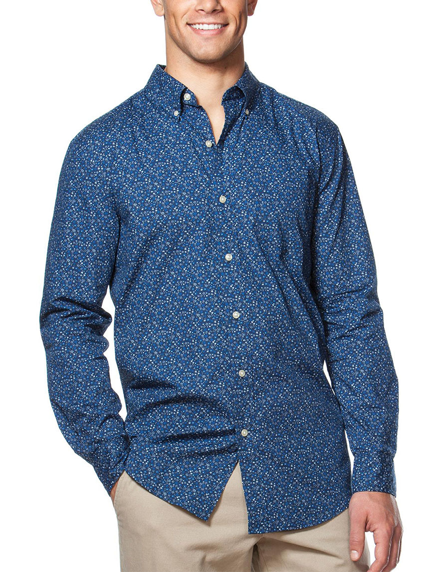 Chaps Blue Casual Button Down Shirts