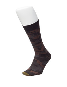 Gold Toe Dark Brown Socks