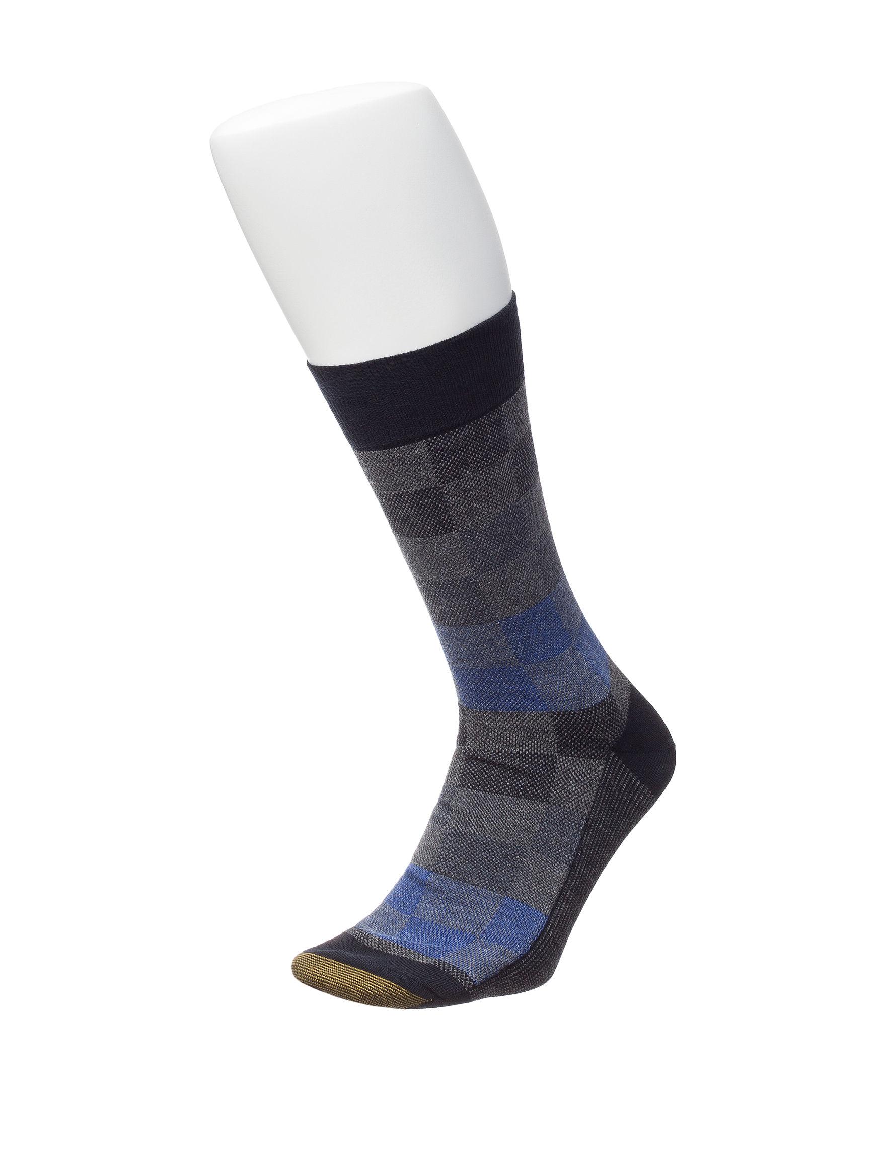 Gold Toe Blue Socks