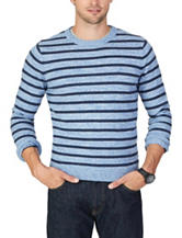Nautica Striped Print Crew Sweater