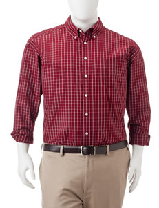 Dockers Big & Tall Plaid Print Woven Shirt