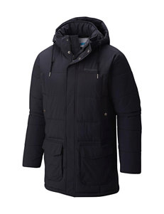 Columbia Black Insulated Jackets