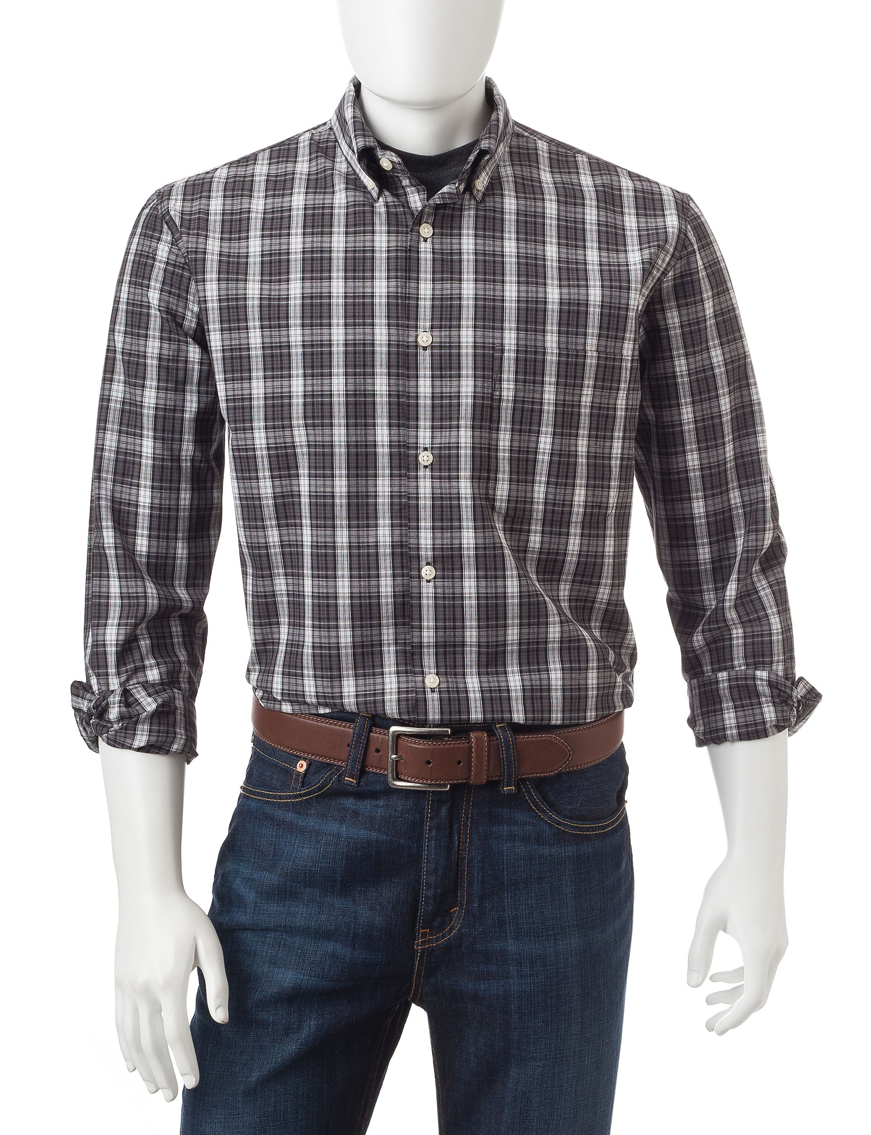 Sun River Onyx Casual Button Down Shirts