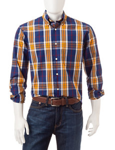 Sun River Pompadour Blue Casual Button Down Shirts