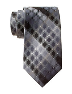 Van Heusen Rounded Diamond Black Tie
