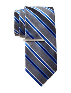Van Heusen Walton Striped Navy Tie