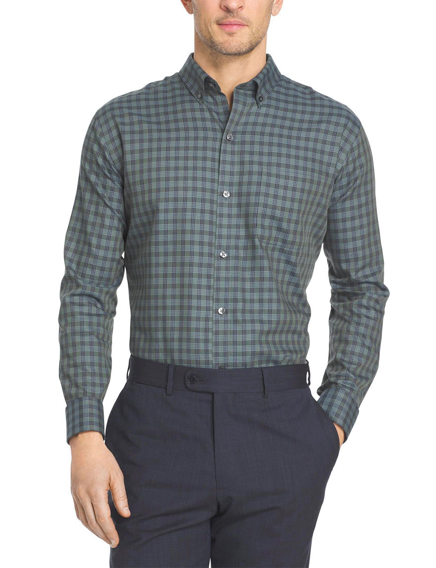 Van Heusen Olive Casual Button Down Shirts