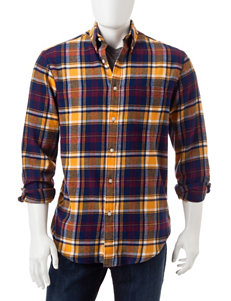 Sun River Orange Casual Button Down Shirts