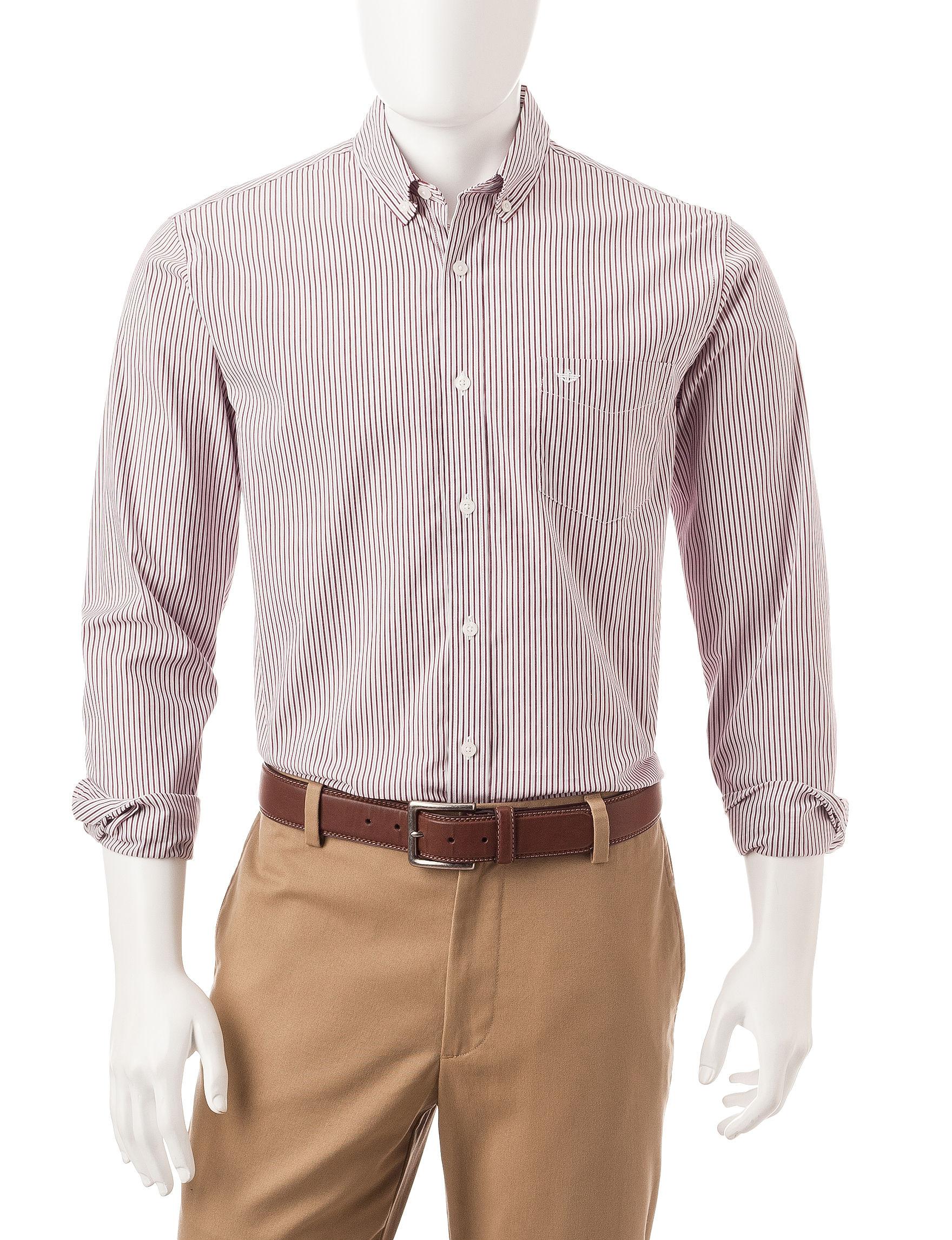 Dockers Purple Casual Button Down Shirts