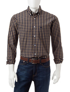 Dockers Beige Casual Button Down Shirts