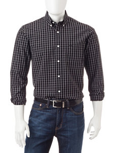 Dockers Black Casual Button Down Shirts