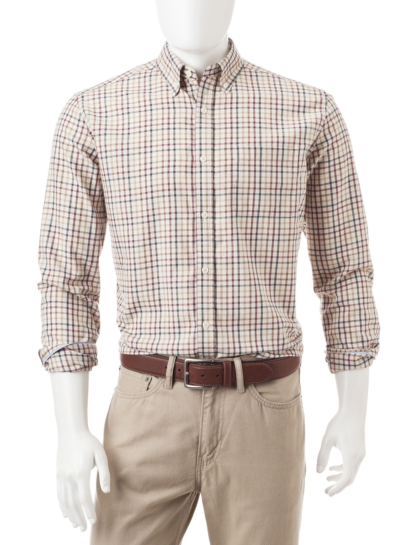 U.S. Polo Assn. Ivory Casual Button Down Shirts