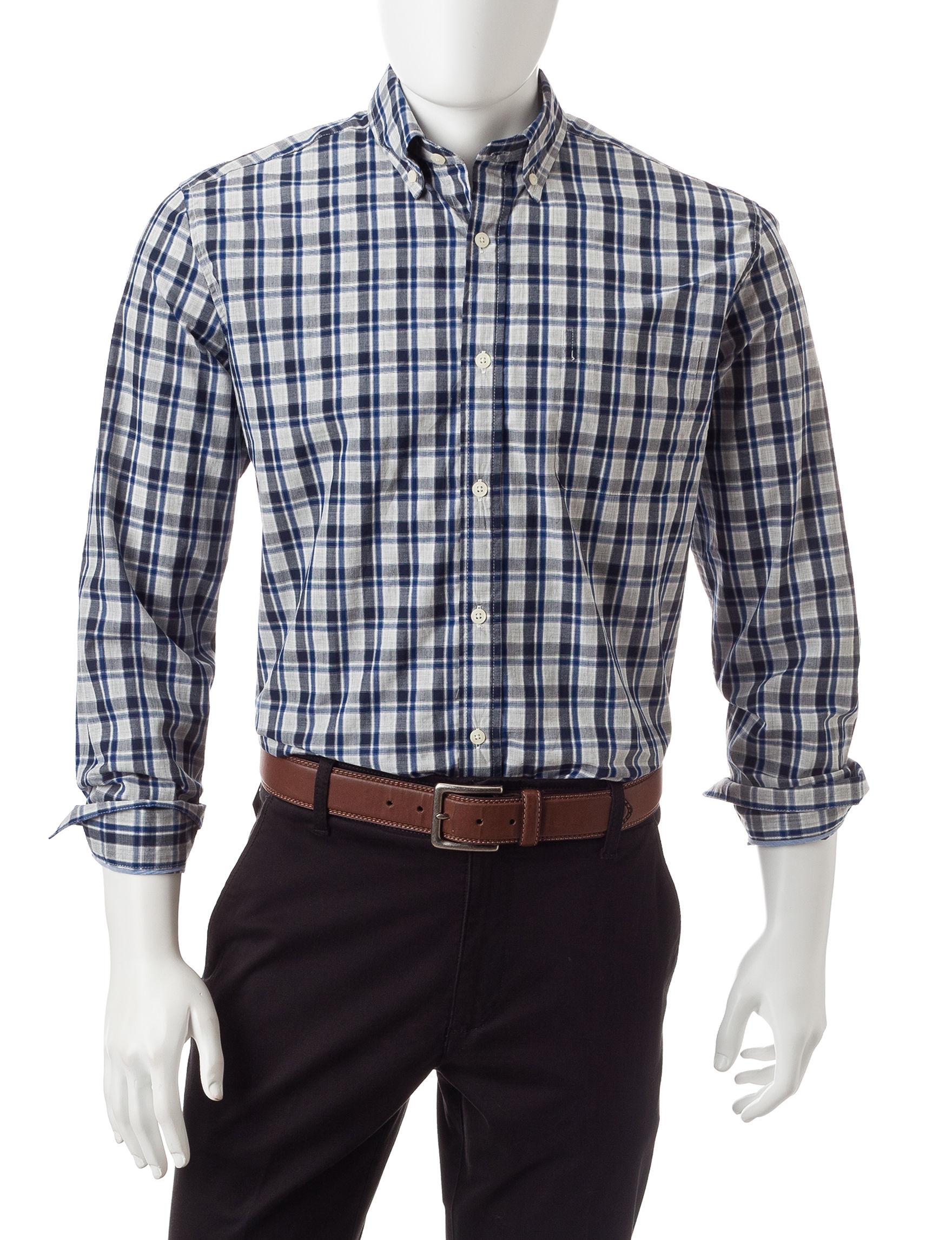 U.S. Polo Assn. Blue / Grey Casual Button Down Shirts