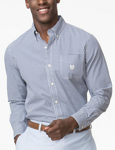 Chaps 2-Tone Mini Gingham Print Woven Shirt