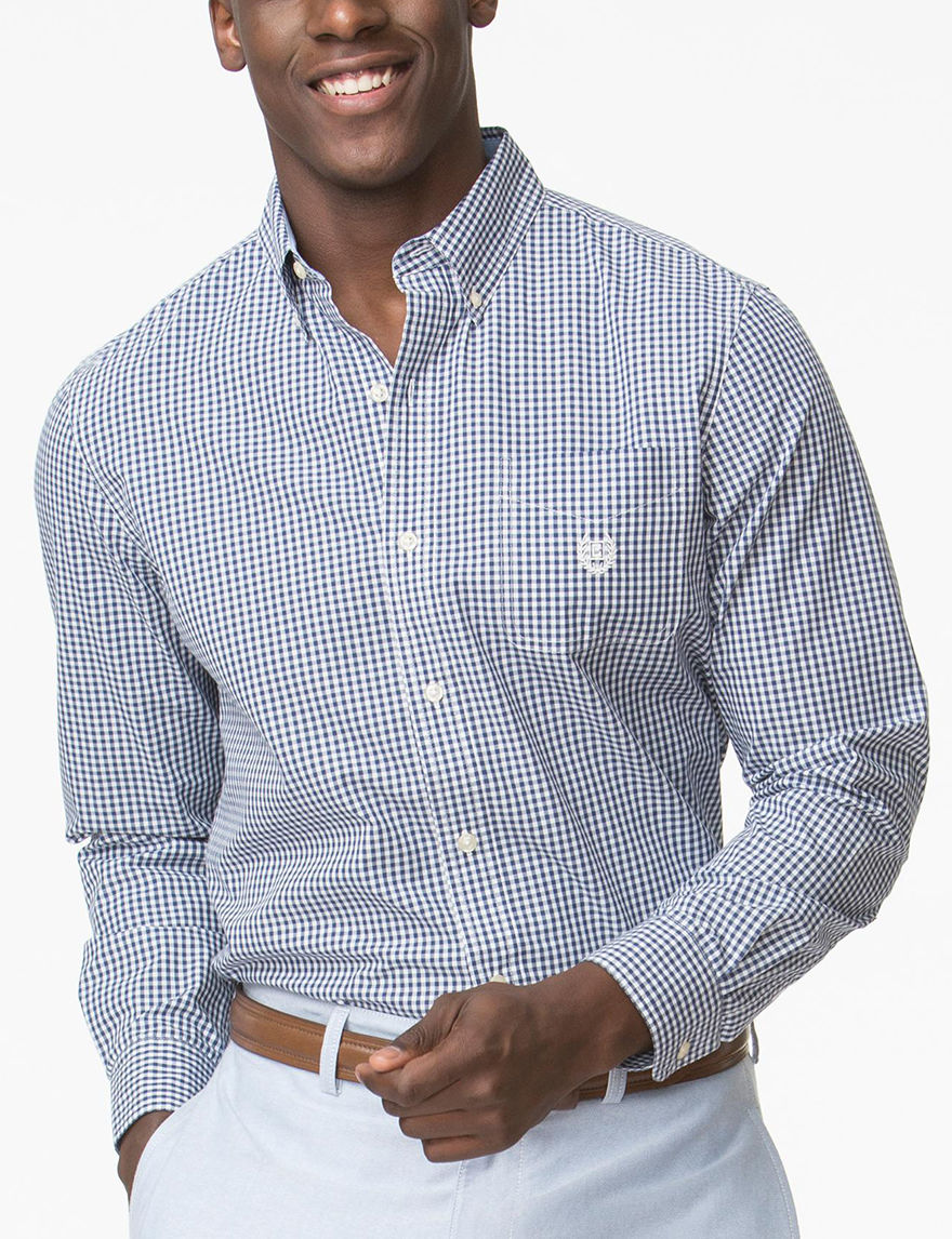 Chaps Ocean Blue Casual Button Down Shirts