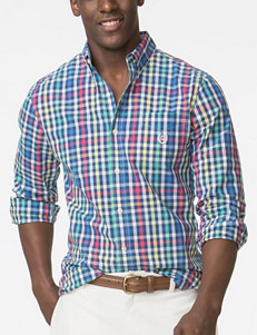 Chaps Plaid Casual Button Down Shirts