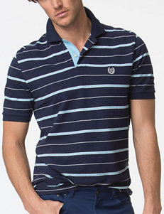 Chaps Fancy Striped Print Polo Shirt